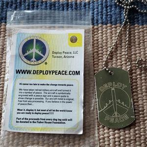 Deploy Peace Dog Tag